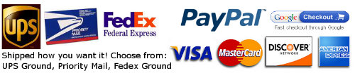 Shippers and Payments we accept
